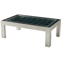 Depth 52 inch Silver Leaf Cocktail Table Home Decor