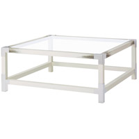 Theodore Alexander 5102-075 Cutting Edge 44 X 44 inch Longhorn White Cocktail Table, Squared
