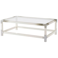 Theodore Alexander 5102-076 Cutting Edge 54 X 34 inch Longhorn White Cocktail Table