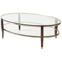 Seeing Double 52 inch Brass Console Table