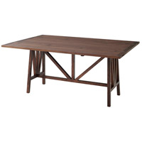 Theodore Alexander 5305-303 Dakota 65 X 30 inch Weathered Hickory Dining Table