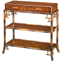 A Bamboo and Pollard Burl 37 X 17 inch Console Table