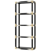 Cutting Edge 80 X 32 X 15 inch Black And Faux Horn Etagere