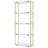 Theodore Alexander 6302-118 Cutting Edge 80 X 32 X 15 inch Longhorn White Etagere