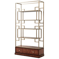 Patterns in Brass 90 X 48 X 18 inch Etagere