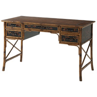 The Chinese Leaf 50 X 26 inch Black Lacquer Writing Desk