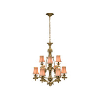 Althorp Living History 9 Light 30 inch Brass Chandelier Ceiling Light
