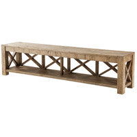 Stafford 100 inch Planked Rustic Oak TV Console