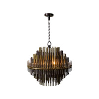 Keno Bros. 4 Light 24 inch Brass Chandelier Ceiling Light