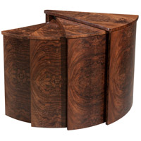 Theodore Alexander KENO5004 The Slice 40 X 27 inch Flame Walnut Nesting Tables