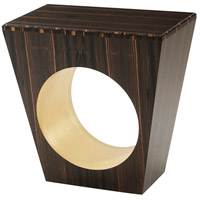 Paradox 24 X 24 inch Amara Ebony Veneer Accent Table