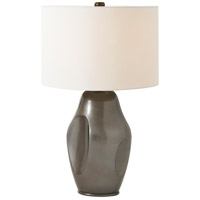 Theodore Alexander MB20005 Graphite Dimple 27 inch MB Graphite Lacquer Table Lamp Portable Light