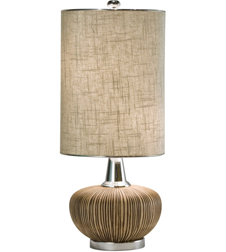 Thumprints 1082-ASL-2046 Sahara 27 inch 60 watt Natural w/Nickel Table Lamp Portable Light photo