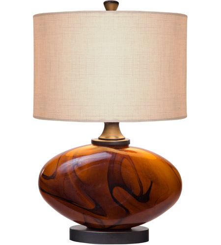 Thumprints 1112-C11-2079 Burl 17 inch 60 watt Dark Amber,Oil Rubbed Bronze Table Lamp Portable Light photo