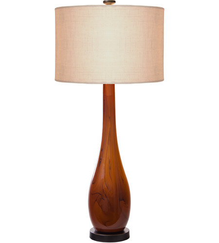 Thumbprints Burlwood 2 Light Table Lamp