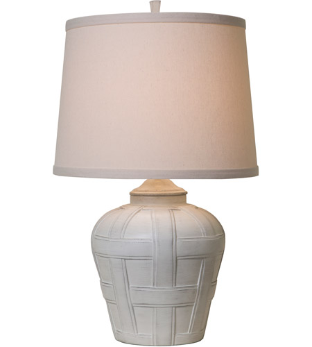 Thumprints 1175-ASL-2128 Seagrove 18 inch 150 watt Distressed White Matte Table Lamp Portable Light  photo