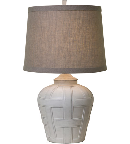 Thumprints 1175-ASL-2129 Seagrove 16 inch 150 watt Distressed White Matte Table Lamp Portable Light  photo
