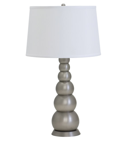 Thumprints river rock 1 light table lamp in satin pewter for River rock lamp