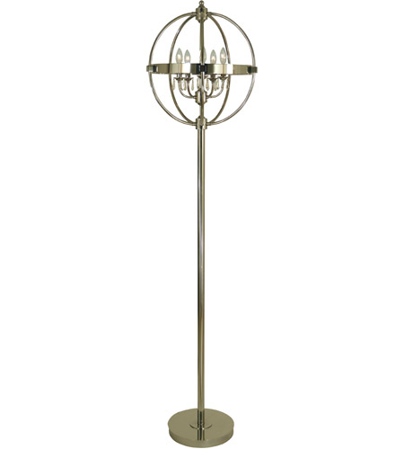 Thumprints 1264 Asl 2179 Hemisphere 75 Inch 60 Watt Polished Nickel Floor Lamp Portable Light