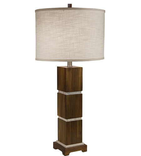 Thumprints Bali 1 Light Table Lamp in Acacia Wood 1105-ASL-2072 photo
