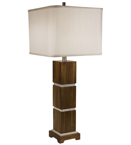 Thumprints Bali 1 Light Table Lamp in Acacia Wood 1105-ASL-2069 photo