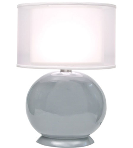 Thumprints Cartman 1 Light Table Lamp in High Gloss Slate Grey 1160-ASL-2113 photo