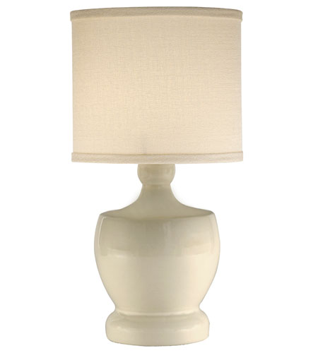 Thumprints Fleur de Lis 1 Light Mini Lamp in Glazed Eggshell 1144-ASL-2104 photo