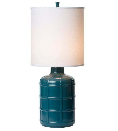 Thumprints 1172-ASL-2125 Orleans 32 inch 150 watt High Gloss Teal. Table Lamp Portable Light photo