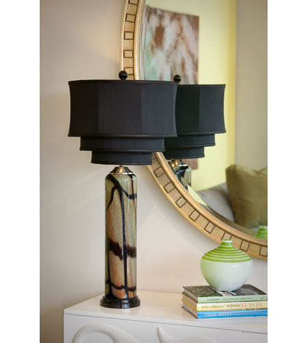 Thumbprints Pisa Table Lamp in Black 1016-C05-TL01 photo