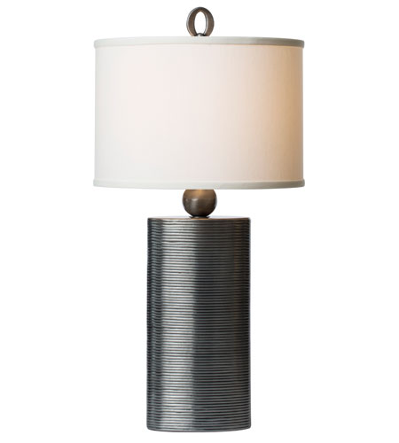 Thumprints Reflection 1 Light Table Lamp in Metalic Pewter Finish 1164-ASL-2122 photo