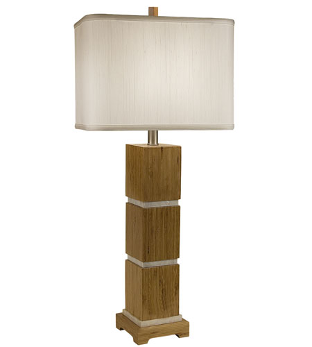 Thumprints Tahiti 1 Light Table Lamp in Bamboo Wood 1106-ASL-2070 photo