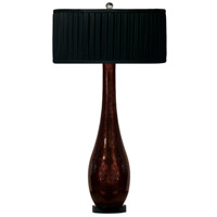 Bronze Beauty 33 inch 60 watt Black w/Bronze Glitter Table Lamp Portable Light