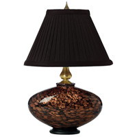 Thumbprints Cache 1 Light Table Lamp in Black w/Gold Glitter,Brushed Gold 1012-C05-TL01