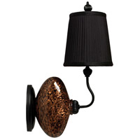 Thumbprints Vivi 1 Light Wall Sconce in Black w/Gold Glitter,Satin Black 1026-C05-WS01