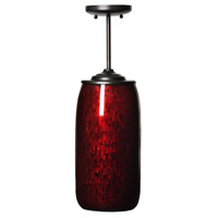 Galaxy 1 Light 7 inch Black w/Red Glitter,Satin Black Pendant Ceiling Light