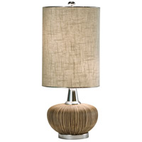 Sahara 27 inch 60 watt Natural w/Nickel Table Lamp Portable Light