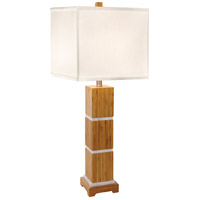 Tahiti 32 inch 150 watt Satin w/Brushed Nickel Table Lamp Portable Light