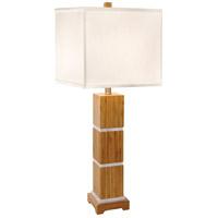 Thumprints 1106-ASL-2069 Tahiti 32 inch 150 watt Satin w/Brushed Nickel Table Lamp Portable Light