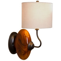 Burl 1 Light 9 inch Dark Amber,Oil Rubbed Bronze Wall Sconce Wall Light