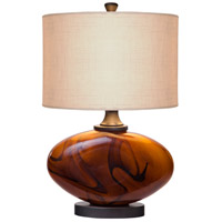 Burl 17 inch 60 watt Dark Amber,Oil Rubbed Bronze Table Lamp Portable Light