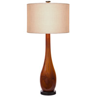 Burlwood 32 inch 60 watt Dark Amber,Oil Rubbed Bronze Table Lamp Portable Light