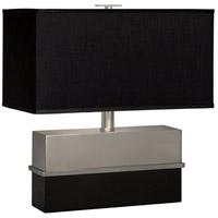 Thumprints 1124-ASL-2091 Versailles 18 inch 60 watt Satin BlackBrushed Nickel Table Lamp Portable Light
