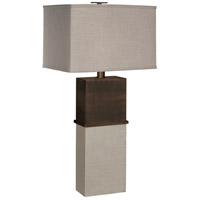 Thumbprints Tuscany 1 Light Table Lamp in Dark Bronze,Distressed White 1125-ASL-2092