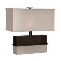 Piedmont 18 inch 60 watt Dark Bronze,Distressed White Table Lamp Portable Light