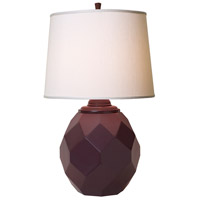 Jewel 27 inch 150 watt Satin Eggplant Table Lamp Portable Light