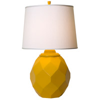 Jewel 27 inch 150 watt Satin Yellow Table Lamp Portable Light