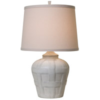 Seagrove 18 inch 150 watt Distressed White Matte Table Lamp Portable Light