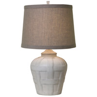 Seagrove 16 inch 150 watt Distressed White Matte Table Lamp Portable Light