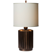 Thumprints 1202-ASL-2136 Starburst 27 inch 150 watt Tinted Copper Table Lamp Portable Light