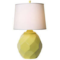 Jewel 27 inch 150 watt Satin Chartreuse Table Lamp Portable Light